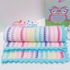 Ice cream blanket Crochet Pattern Motifs Afghans, Afghan Patterns, Crochet Blanket Patterns, Baby Blanket Crochet, Baby Patterns, Crochet Blankets, Crochet Afghans, Baby Afghans, Stitch Patterns