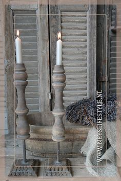 Kandelaar Sophie | 40cm Taupe Paint, Woodworking Projects, Diy Projects, Bowls, Paint Effects, Old Doors, Chandelier, Wabi Sabi, Rustic Style