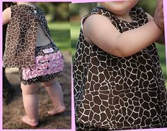 Giraffe Print Swing Top