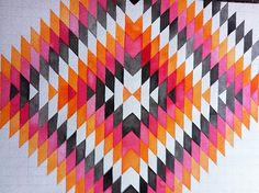 Navajo quilt, stunning colors