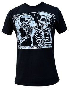 Mens To the Grave by Adi Nautical USN Navy Sailor Skeleton Tattoo Art T-Shirt