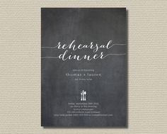 Printable Wedding Rehearsal Dinner  Chalkboard by rosiedaydesign, $15.00