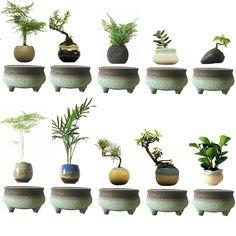 2017 japan Magnetic Floating Flowers Magnet Bonsai Ceramics Glaze Garden Art Best Gift for Men free shipping (no plant) - free shipping worldwide