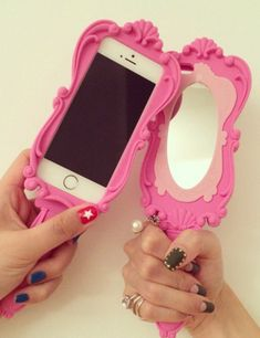 Moschino Pink Mirror iPhone6, iphone5S cell phone case