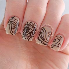 Instagram photo by @lifeisbetterpolished (Karissa) | henna nails