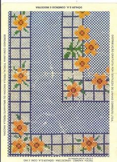 Discover thousands of images about Chicken Scratch, Broderie Suisse, Swiss embroidery, Bordado espanol, Stof veranderen. Chicken Scratch Patterns, Chicken Scratch Embroidery, Ribbon Embroidery, Cross Stitch Embroidery, Bordado Tipo Chicken Scratch, Gingham Fabric, Vintage Cross Stitches, Retro Floral, Cross Stitch Flowers