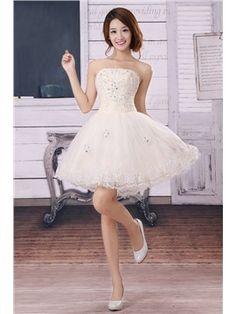 09eab392a8 Amazing A-Line Short Beading Lace Prom Dress Vestidos De Novia Cortos