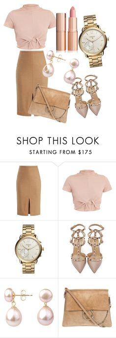 """""""Untitled #499"""" by alexasimoes03 ❤ liked on Polyvore featuring MaxMara, FOSSIL, Valentino and A B Davis"""