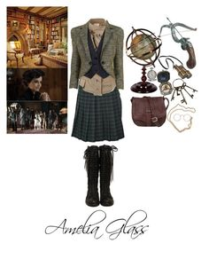 """Miss Peregrine's Home for Peculiar Children Oc:Amelia Glass"" by pastelgothprincess27 ❤ liked on Polyvore featuring Retrò, Vivienne Westwood and McQ by Alexander McQueen"