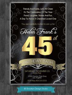 45th Birthday Bash Custom Designed By BrooklynDesignStudio