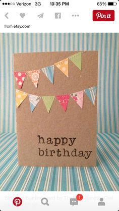 Banners Birthday Card
