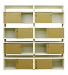 Ernest (Hofmann) Igl, IGL Shelf, 1970. Polyurethane Plastic, Baydur/NEXTEL, aluminium, ceramics. For Willhelm Werndl, Germany.