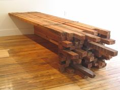 Wood Bench Made From 2X4 2x4's for exterior furniture