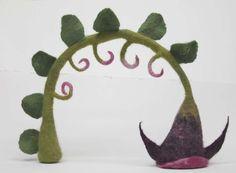 Felt cartoon flower stem