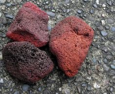 One a dive near Manam Island in Papua New Guinea I didn't expect to find three stones from hell. The giant volcano litters the seabed with these red rocks. Igneous Rock, Volcano, Artisan, Island, Chocolate, Stone, Food, Rocks, Geology
