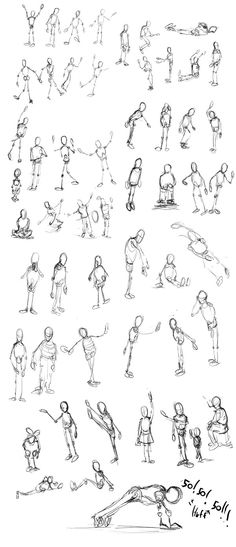 Gesture Drawing Worksheet : Stick figures google search people painted drawn