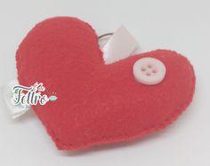 Chaveiro coração. www.elo7.com.br/edefeltro