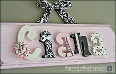 Custom name plaque - made to order wall letter sign, paris, personlized heirloom quality children's nursery art and decor