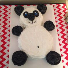 Panda bear birthday cake Panda Birthday Cake, 18th Birthday Cake, Bear Birthday, Birthday Ideas, Birthday Parties, Panda Bear Cake, Panda Cakes, Bear Cakes, Panda Party