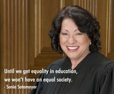 Supreme court justice Sonia Sotomayor  reme court judge has used her experience of the real world in her rulings