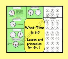 What Time Is It?  PDF file with lesson and printables from Teaching The Smart Way on TeachersNotebook.com (8 pages)