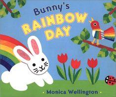 Bunny's Rainbow Day by Monica Wellington http://www.amazon.com/dp/0525460470/ref=cm_sw_r_pi_dp_aSQ9tb0PAX24N