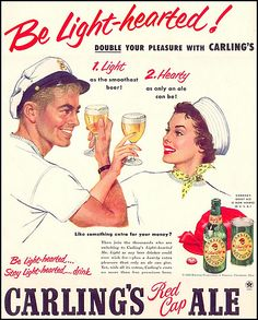 Carling's Red Cap Ale, from 1952