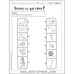 L'orthophonie à la maison - Conscience phonologique 1st Grade Math Worksheets, French Worksheets, Father's Day Activities, French Resources, Conscience, Teacher, Education, School, Therapy
