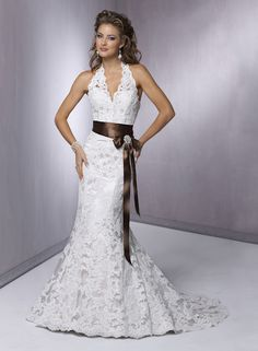 Halter Wedding Dresses - Bitsy Bride (shared via SlingPic)