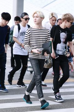 140628- EXO Suho (Kim Joonmyun) @ Incheon Airport #exok #mensfashion