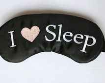 I Heart Sleep Satin Sleep Mask Handmade Slumber Party Favors
