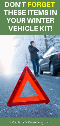 Make sure these survival items are in your vehicle kit for winter. If you are driving in your car or truck and get stranded, these could save your life! Perfect for road side emergencies. Survival Blog, Survival Prepping, Survival Items, Survival Mode, Homestead Survival, Emergency Preparedness Kit, Emergency Supplies, Survival Shelter, Energy Technology
