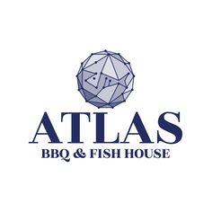 Restaurant logo design for Atlas BBQ & Fish House Restaurant Logo Design, Fish House, Brand Design, Concept, Branding Design, Corporate Design