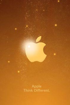 Appleロゴ(ゴールド) | iPhone壁紙ギャラリー