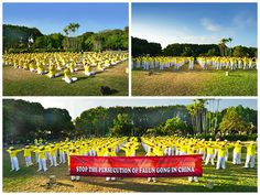 Indonesia: Group Exercise Practice and a Rally to Oppose the Persecution   Falun Dafa - Minghui.org