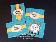 CreatewithMel; Stampin Up; Tin of Cards Kit