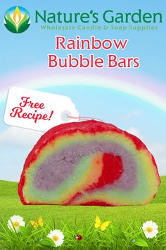 Free Rainbow Bubble Bars Recipe by Natures Garden
