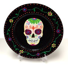 Day of the Dead Charger Plate #halloween #craft