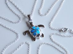 Opal Turtle Necklace Sea Opal Necklace Turtle by AlwaysCrafty77, $35.00