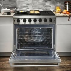 """Thor Kitchen 36"""" 6 cubic ft. Freestanding Professional Gas Range LRG3601U · $2,499.00 Electric Oven, Gas Stove, Thor, Range, Kitchen, Cookers, Cooking, Gas Oven, Kitchens"""