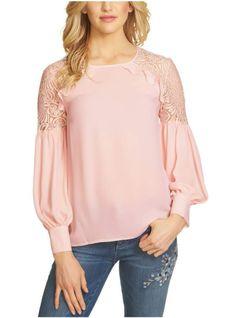 Ruffle Lace Shoulder Top