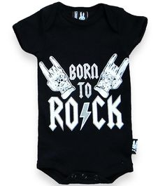 Six Bunnies Born to Rock Baby Romper Alternative Cute Gothic Tattoo Punk Gift Rock N Roll Tattoo, Tattoos For Baby Boy, Baby Rocker, Baby Bunnies, Baby Skin, Baby Grows, Baby Essentials, Unisex Baby, Baby Boy Outfits