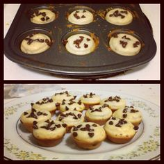 Made my own puffins (pancake muffins). They were so good! I used bisquik instead of making my own pancake mix like the original recipe called for and it worked fine. Use 1 cup bisquik mix  1 egg   1/2 cup milk   2 tbls maple syrup   2 tbls sugar 2 tbls melted butter And 1/2 cup chocolate chips (I used mini ones)  That makes enough for 24 mini puffins!