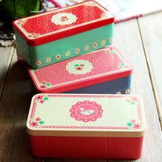 Stationery zakka small tin stationery box storage box tin-in Storage Boxes & Bins from Home & Garden on Aliexpress.com