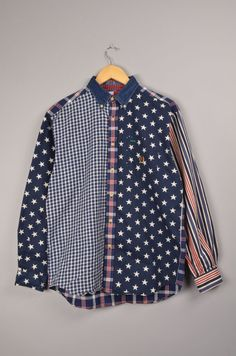 tommy hilfiger, vintage tommy hilfiger, vintage tommy blouse, american flag  size L   nike adidas puma ralph lauren polo 0f2242fae6bb