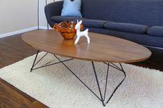 Mid Century modern Coffee Table in walnut or limed oak