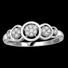 Platinum Plated 0.25ct Round Cut VVS Diamond New  Fashion Ring #Diamantjewels #FashionRing