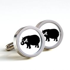 Here is hippopotamus on your cufflinks adding elegance to your attire.  These novelty cufflinks make great gifts for mens or for ladies also.Ideal gift
