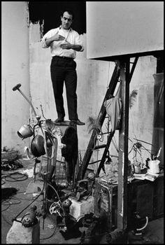 Jean Tinguely by Rene Burri, 1961