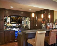 Lower Level Bar Design, Pictures, Remodel, Decor and Ideas